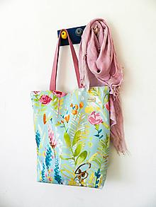 Veľké tašky - Maxi taška Akvarel na tyrkyse - 11110866_