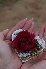 Dekorácie - Aranžmán : Srdce v dlani - 11112539_