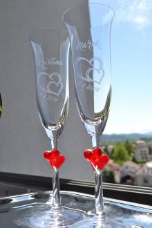 Nádoby - Svadobné poháre - čaše - 11113449_