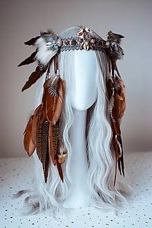 Ozdoby do vlasov - Divoká romantická čelenka z kolekcie 𝕾𝖍𝖆𝖒𝖆𝖓 𝕳𝖆𝖑𝖑𝖔𝖜𝖊𝖊𝖓 - 11112056_