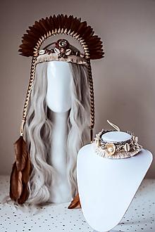 Náhrdelníky - Choker náhrdelník s mušličkami z kolekcie 𝕾𝖍𝖆𝖒𝖆𝖓 𝕳𝖆𝖑𝖑𝖔𝖜𝖊𝖊𝖓 - 11112062_