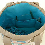 """Iné tašky - Tvoritaška """"Milujem vlnu"""" ~ projektová taška - 11112261_"""