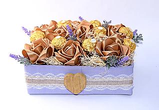 Dekorácie - Saténová bonboniera - 11111215_