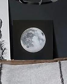 Obrazy - Strieborný mesiac - 11113141_