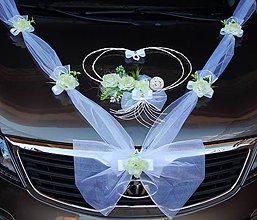 Dekorácie - svadobná výzdoba na auto-zelené jablko - 11112349_