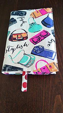 Návody a literatúra - Látkový obal na knihy - 11112677_