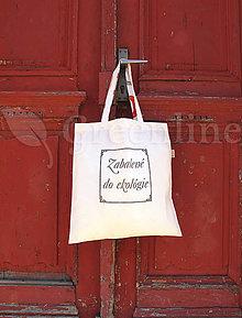 Nákupné tašky - Nákupná taška / Zabalené do ekológie / Bledomodrá - 11111879_