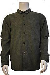 Košele - vlnená košeľa - 11112781_