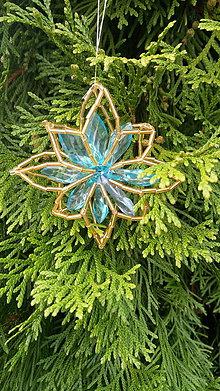 Dekorácie - Dekorácie na stromček (Hviezdička azúrová) - 11110425_