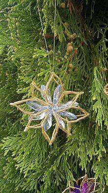 Dekorácie - Dekorácie na stromček (Hviezdička svetlomodrá) - 11110428_
