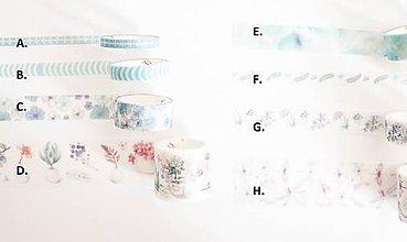 "Papier - Washi páska "" baby blue "" - 11112685_"