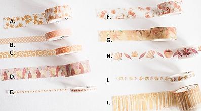 """Papier - Washi páska """" jeseň v oranžovom """" - 11112755_"""