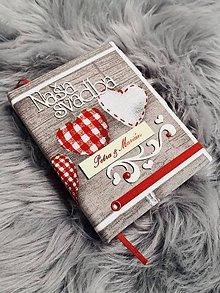 Papiernictvo - ♥♥♥ Svadobný zápisník ♥♥♥ - 11112591_