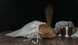 Úžitkový textil - Vrecúško na chlieb z ľanového plátna - 11112427_