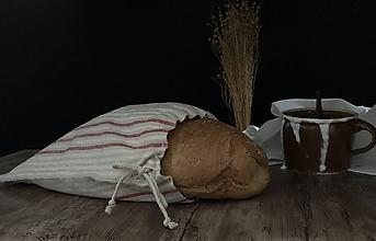 Úžitkový textil - Vrecko na chlieb z ľanového plátna - 11112087_