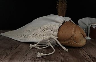 Úžitkový textil - Vrecko na chlieb z ľanového plátna - 11112484_
