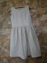 Detské oblečenie - Ľanové dievčenské šaty - 11110048_