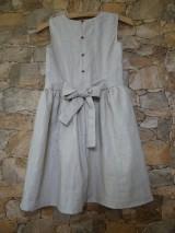 Detské oblečenie - Ľanové dievčenské šaty - 11110049_