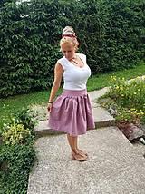 Sukne - Ľanová sukňa - 11112788_