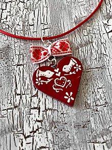 """Náhrdelníky - """"Ľudovky červené"""" - náhrdelník - 11110231_"""
