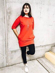 Šaty - Šaty rovný strih M15-tepl-IO24 - 11112795_