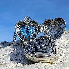 Náhrdelníky - Otevírací Medailonek - Srdce Anděla - 11114740_