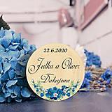 Darčeky pre svadobčanov - Svadobná magnetka - 11115946_