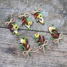 Pierka - Jesenné svadobné pierka so špagátikom - 11115691_