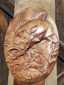 Dekorácie - Drevorezby rybárske - 11114971_
