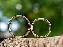 Prstene - Zlatá stredná cesta  /svadobné obrúčky/ - 11116800_