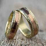 Prstene - Zlatá stredná cesta  /svadobné obrúčky/ - 11116802_