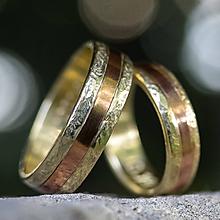 Prstene - Zlatá stredná cesta  /svadobné obrúčky/ - 11116804_