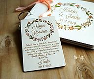Darčeky pre svadobčanov - Poďakovanie rodičom 40 venček maľovaný - 11114386_
