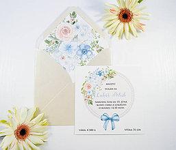 Papiernictvo - Oznámenie o narodení dieťatka - chlapček - 11114838_