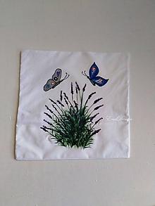 Úžitkový textil - Motýle a levanduľa - 11113796_