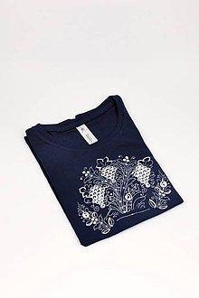 Tričká - Modranské tričko tmavé s hroznom DÁMSKE - 11114813_
