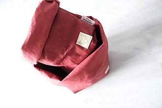 Košíky - NOVINKA Big home bag Bordó - 11114523_