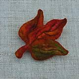 Odznaky/Brošne - ...plstená brošňa - jesenný list... - 11114552_