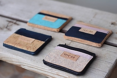 Peňaženky - Korková mini peňaženka - 11116288_