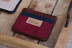 Peňaženky - Korková mini peňaženka - 11116289_