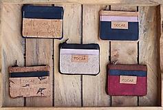 Peňaženky - Korková mini peňaženka - 11116290_