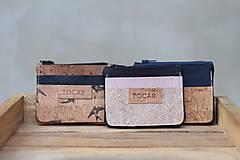 Peňaženky - Korková mini peňaženka - 11116292_