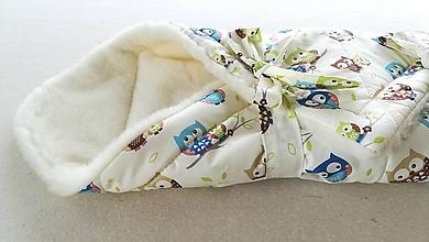 Textil - VLNIENKA Klasická zavinovačka pre novorodenca zimná 100% MERINO TOP SOVIČKAa - 11115811_