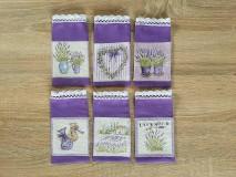 Úžitkový textil - Vrecúška na levanduľu fialové - 11116516_