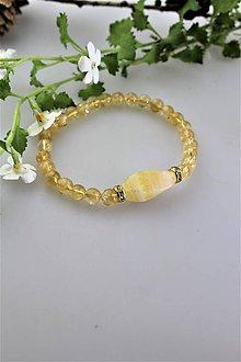 Náramky - citrínový náramok s kalcitom - 11116245_