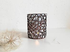 Svietidlá a sviečky - Svietnik z trojuholníčkov - 11115771_