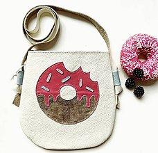 Kabelky - Donut-ková (20x20cm - Biela) - 11116915_