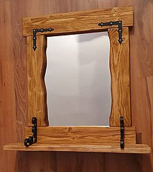 Zrkadlá - Rustikalne zrkadlo do kupelne - 11113760_