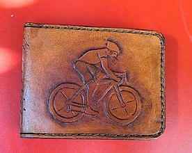 """Doplnky - Pánska kožená peňaženka """"Cyklista"""" - 11116842_"""