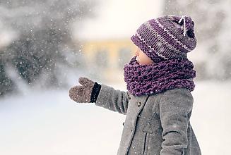 Detské čiapky - Sněhová královna - čepice Vřesová - 11114790_